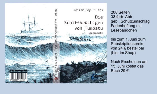 """Aktion: Subskriptionspreis für """"Die Schiffbrüchigen von Tumbatu"""" von Reimer Boy Eilers"""